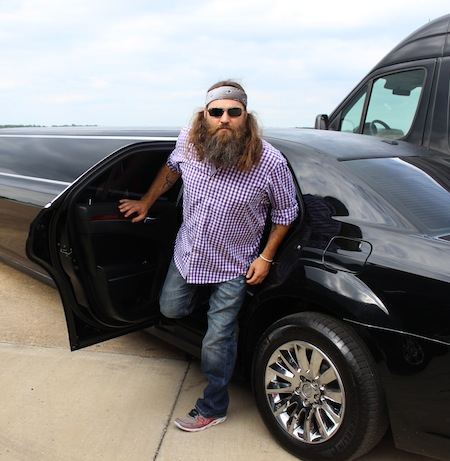Willie in a Limo